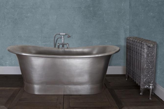 Normandy Copper Bath - Tin Finish
