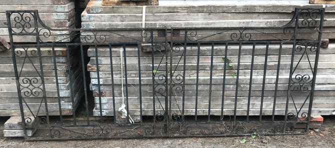 Reclaimed Decorative Wrought Iron Gates L: 248 x H: 107 cm