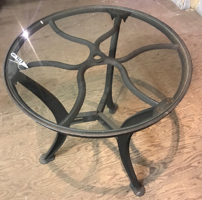Large Glass Side Table