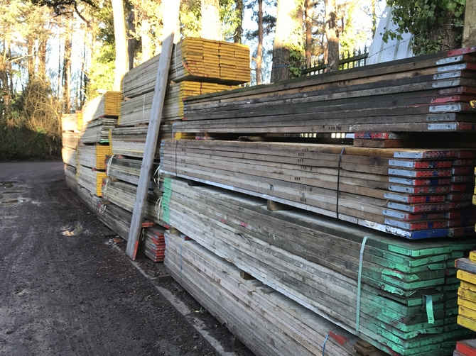 13' Used Scaffold Boards 3.9m x 225mm x 38mm