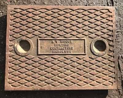 Salvaged Cast Iron Manhole/Inspection Cover 660 x 508