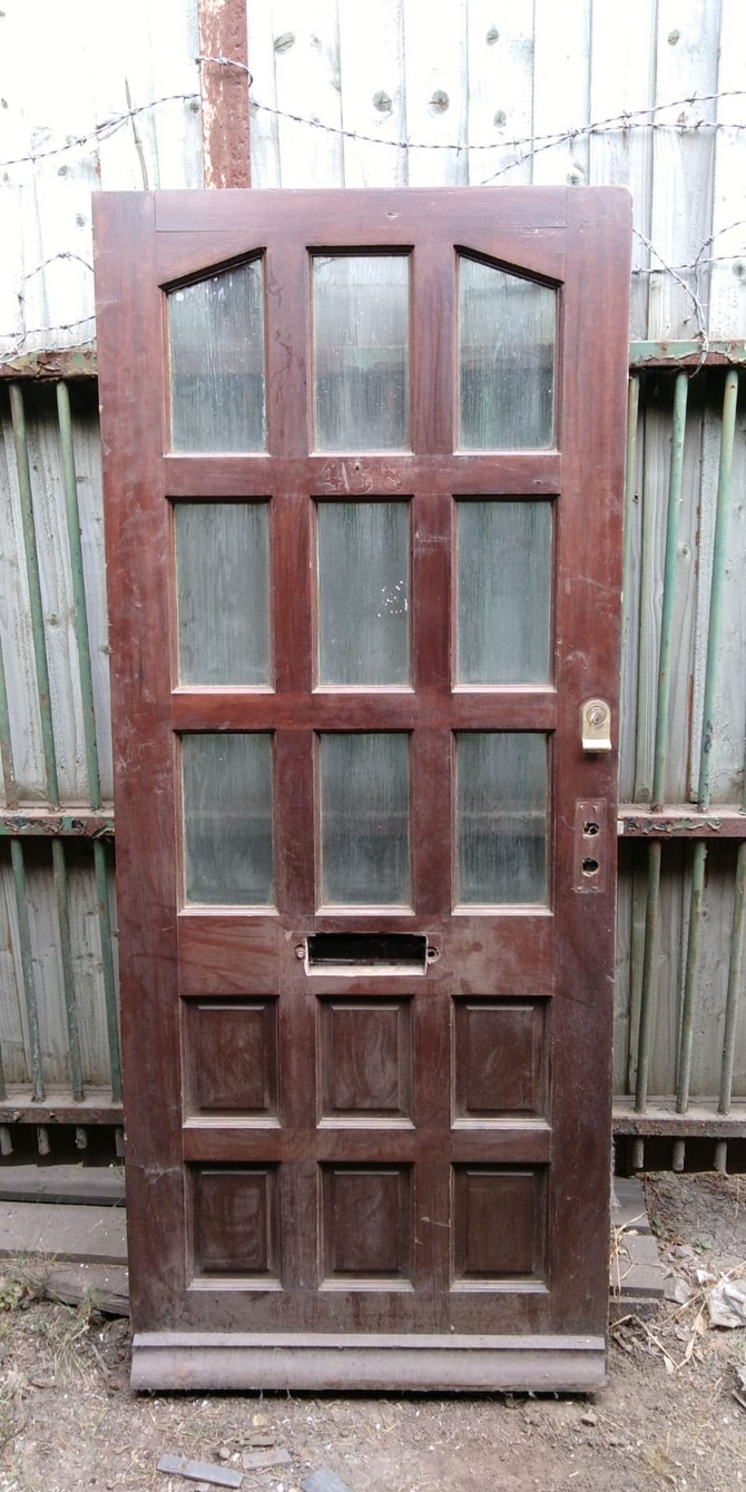 Reclaimed 9 Panel Half Glazed Front Door
