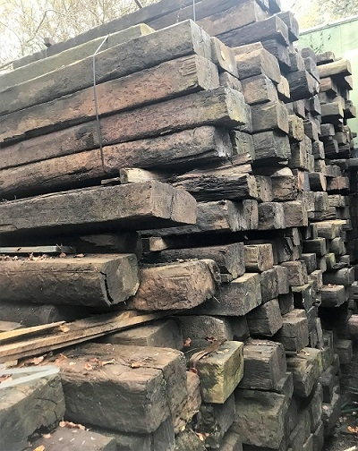 RECLAIMED RAILWAY SLEEPERS - GRADE C WHOLE PACK SPECIAL