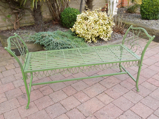 Stool Bench (antique Green) 2425