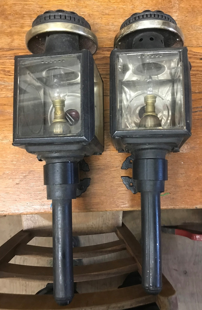 Pair of Raydyot Antique Coach Lamps SOLD