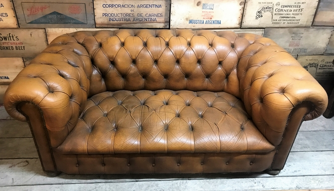Reclaimed Vintage Distressed Chesterfield Sofa