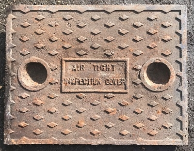 Salvaged Cast Iron Manhole/Inspection Cover 665 x 513