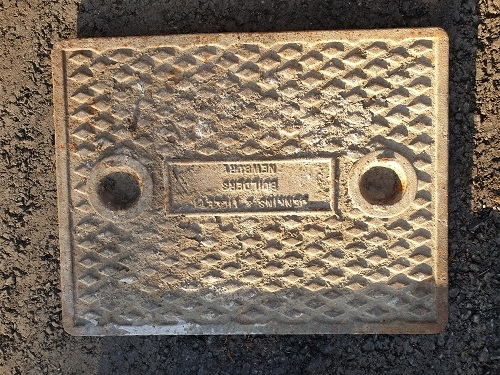 Salvaged Cast Iron Manhole/Inspection Cover 656 x 510