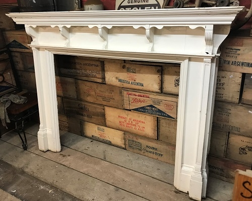 Large Original Decorative Wooden Fire Surround