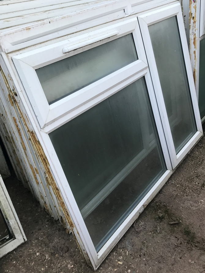 Reclaimed White UPVC Windows