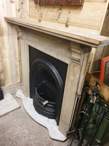 Original Victorian Stripped Wooden Fire Surround