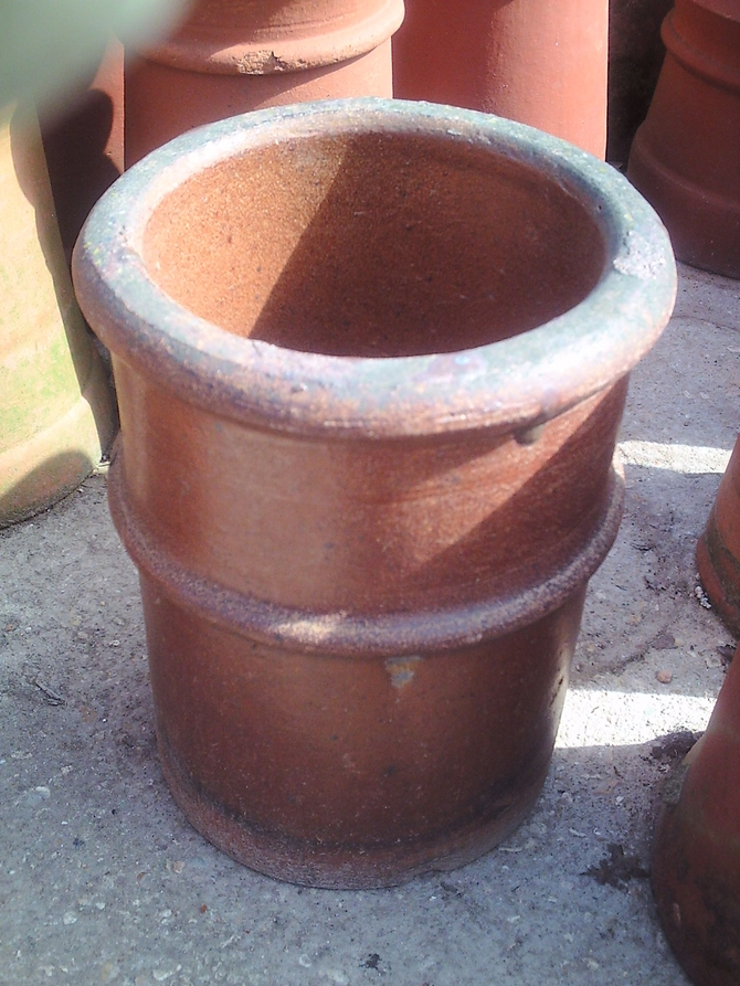 Glazed Roll Top Chimney Pot