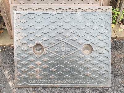 Salvaged Cast Iron Manhole/Inspection Cover 660 x 510