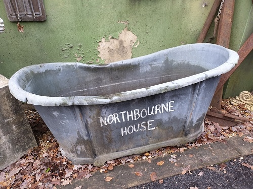 Reclaimed French Zinc Bath ideal for Planter