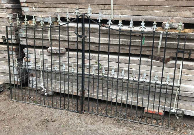 Decorative Reclaimed Wrought Iron Gates L: 240 x H: 137 cm