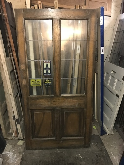 Reclaimed Solid Oak Glazed Door