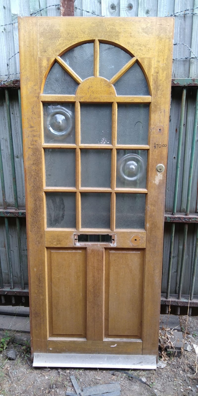 Reclaimed 13 Panel Half Glazed  Front Door