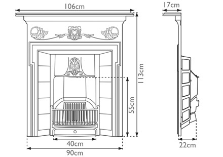 Morris Cast Iron Combination Fireplace by Carron