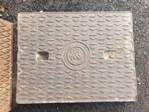 Salvaged Cast Iron Manhole/Inspection Cover 660 x 510mm