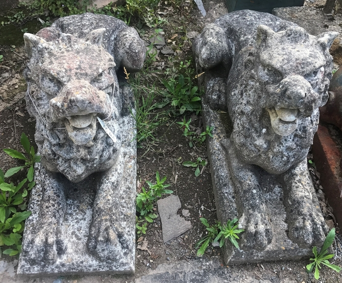 Pair of Dog Statues SOLD