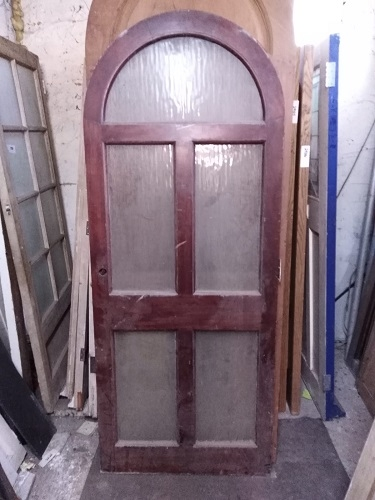 Reclaimed Arched 3 Panel Glazed Door