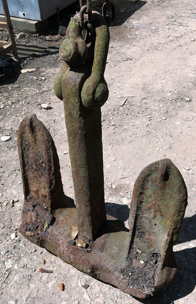 Reclaimed Stockless Anchor