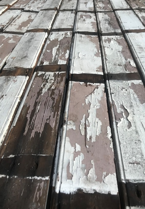 Cladding with Distressed Paint Finish