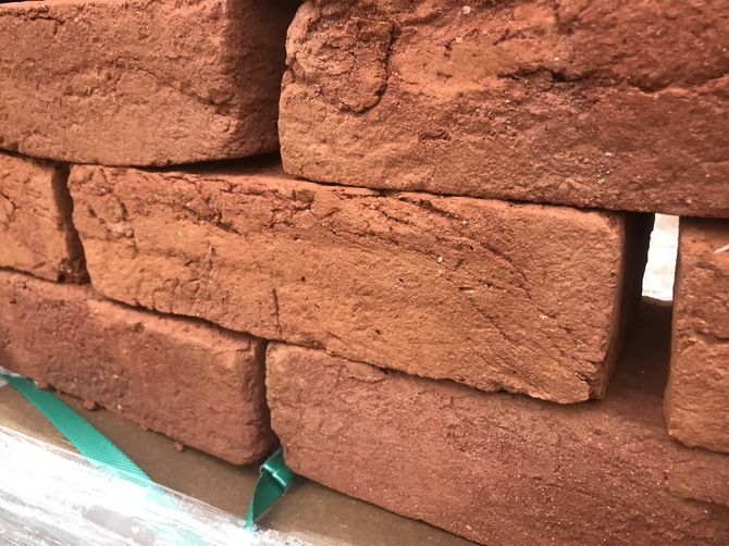 Soft Red Handmade 68mm Imperial Bricks