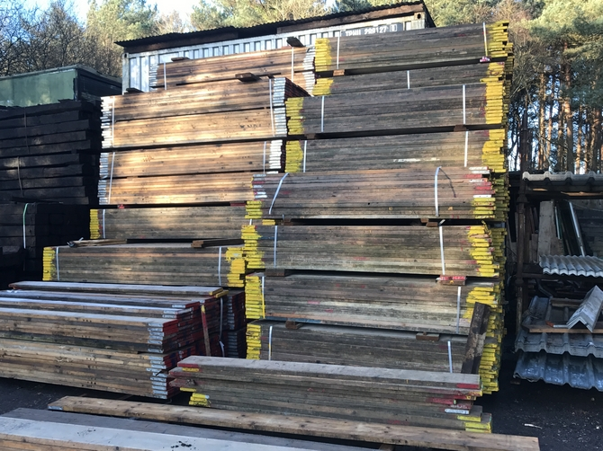 8ft Used Scaffold Boards 2.4m x 225mm x 38mm SOLD OUT
