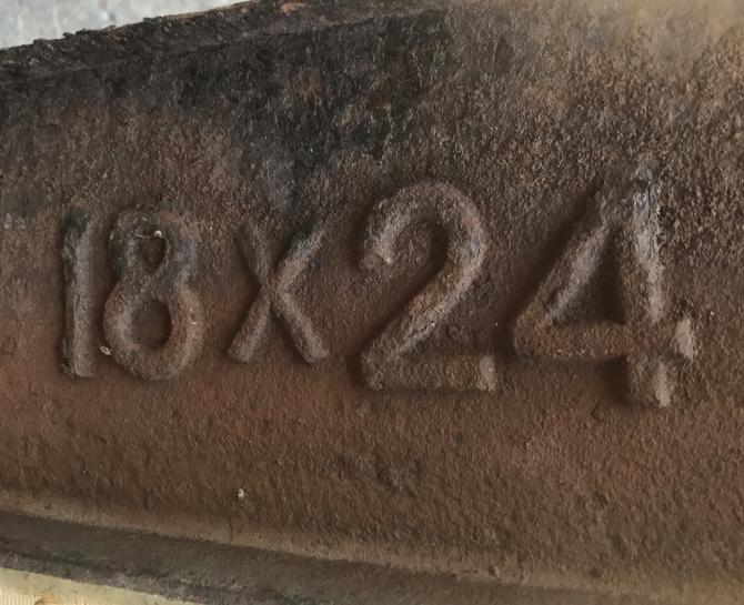 Antique Victorian Cast Iron Roof Light 18 Quot X24 Quot Huge Stock