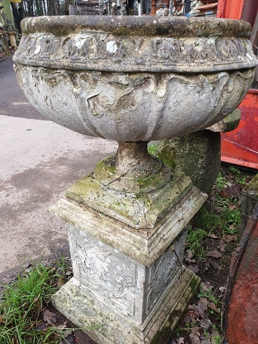 Pair of Nicely Weathered Urns