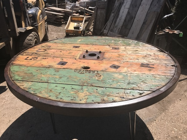 Bespoke Industrial Cable Drum Table