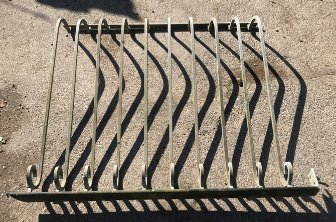 Salvaged Galvanised Balustrade Set of 4