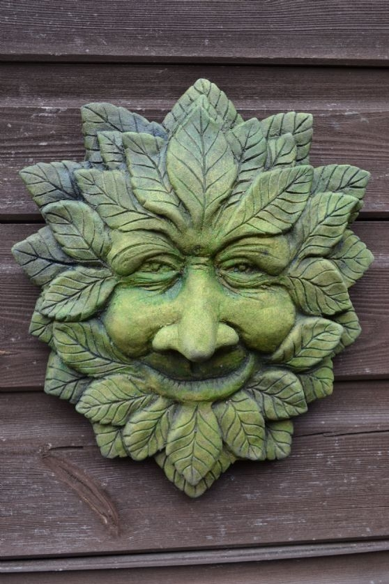 Wise Green man wall plaque