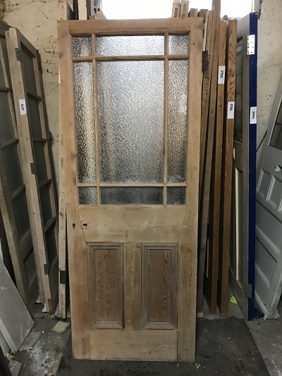 Reclaimed Stripped 9 Panel Glazed Door
