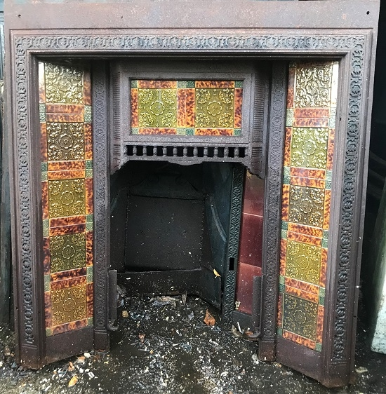 A Reclaimed Cast Iron Tiled Insert