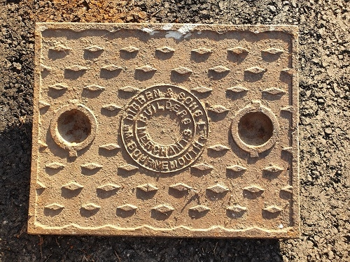 Salvaged Cast Iron Manhole/Inspection Cover 665 x 510