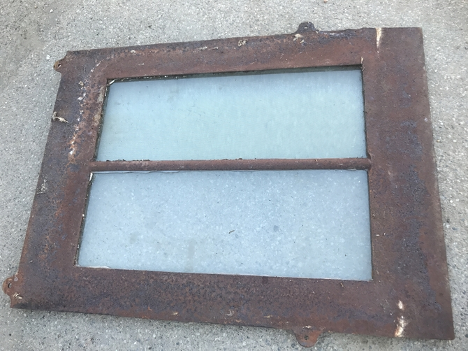 Antique Victorian Cast Iron Roof Light 18