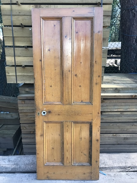 Reclaimed Half Painted 4 Panel Door