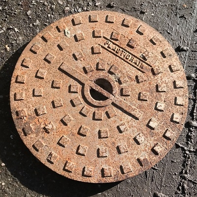 Salvaged Cast Iron Round Manhole/Inspection Cover 508mm