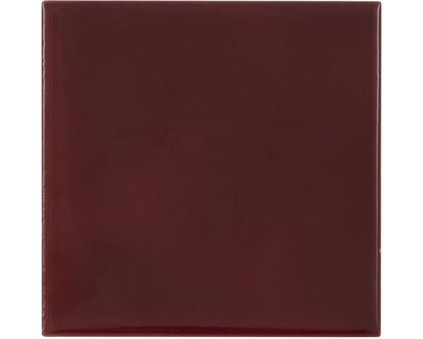 Set of 10 Plain Dark Red Tiles