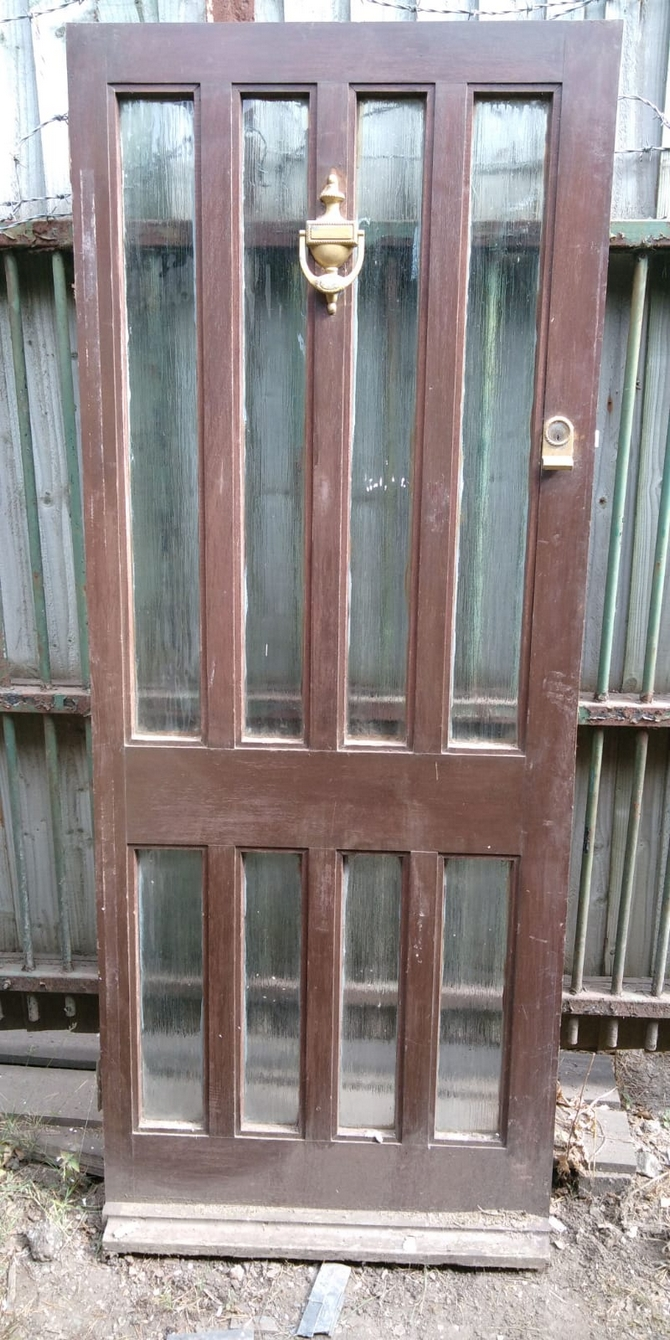 Reclaimed Glazed 8 Panel Front Door
