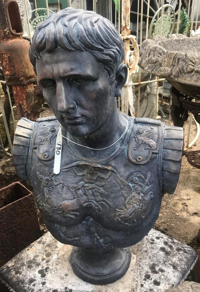 Caesar Bust Bronze style finish