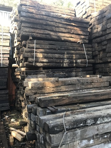 RECLAIMED RAILWAY SLEEPERS - GRADE B/C