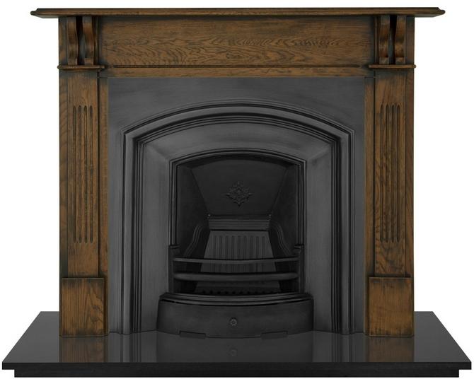 London Plate Cast Iron Fireplace Insert by Carron