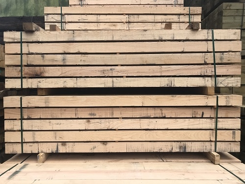 NEW OAK SLEEPERS - 2.4m X 200 X 100mm GREAT DEALS