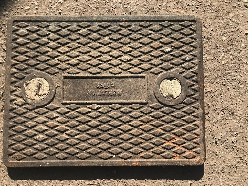 Salvaged Cast Iron Manhole/Inspection Cover