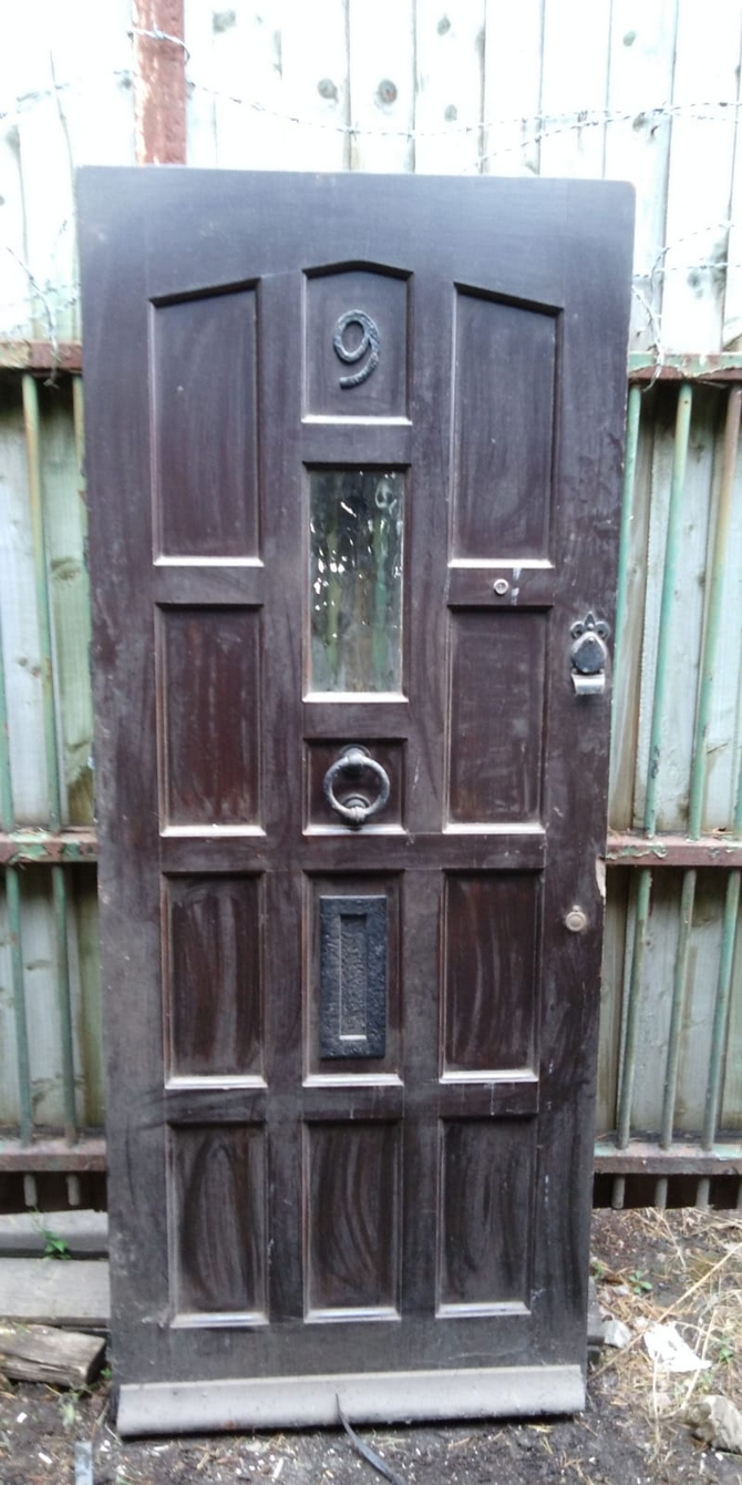 Solid Single Glazed Front Door