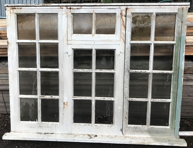 Large Georgian Style Hardwood Window Frame