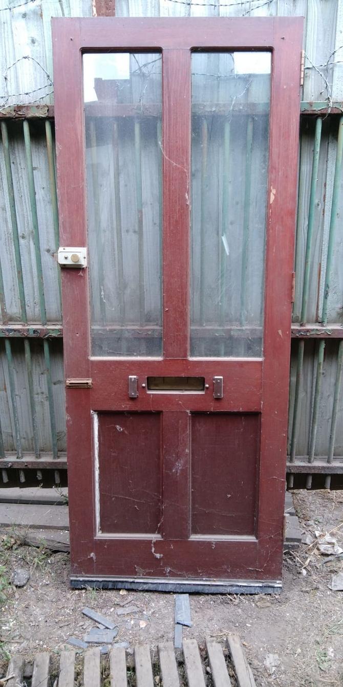 Reclaimed Half Glazed 2 Panel Door